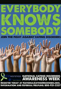 National Eating Disorder Awareness week. Its almost over but you can still show support! #health #recovery #NEDA