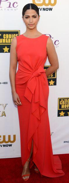 Camilla Alves in a bright Paule Ka dress at the Critics' Choice Awards