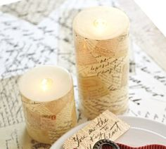 Love Letter Pillar Candle