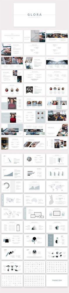 Glora Presentation Template PPTX Creative Design, Web Design, Presentation Templates, Designers, Graphics, Unique, Free, Graphic Design, Design Web
