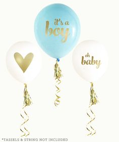 It's a Boy Ballons Baby Shower Balloons Oh by MailboxHappiness
