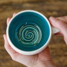 Robins Egg Blue-Teal-Turquoise-Ceramic Mug by juliaedean. $28.00