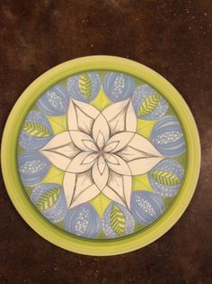 Ceramic painted mandala