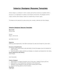 Interior Designer Resume Sample Pdf Billingsblessingbagsorg