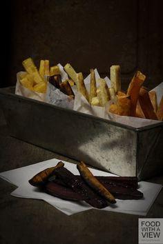 Ofen-Pommes-Frites aus Wintergemüse