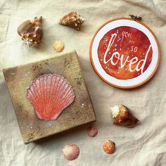 My shop is back open! I confess my mind is still on the beach so I had to highlight some coastal decor - perfect for a beachy room or mermaid-inspired nursery! Several of my embroidered canvases are now on sale including this rustic seashell. Visit http://ift.tt/1LtSWVn or click the link in my profile to see more!