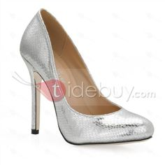 Sexy Silver Stiletto Heels Closed Toe Prom/Evening Shoes : Tidebuy.com