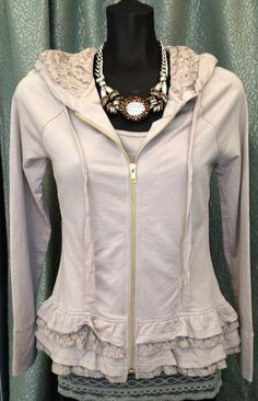 I want one! True Grit | Dylan layered button sweatshirt with their sooo popular lace tank | Spoken Boutique - Saratoga Springs, NY.