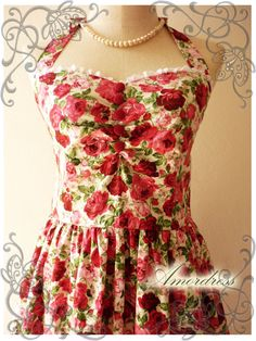 Floral Dress Rose Dress .... love this. Another cool brides maid dress especially if you were being married outside.