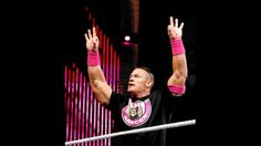 John Cena in his Susan G. Komen for the Cure ring gear on Raw to help fight breast cancer.