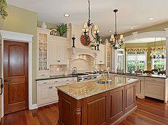 cabinet colors, flooring, pantry door