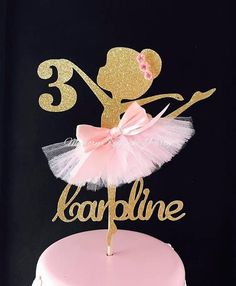 For the love of Ballerinas, which is why a Ballerina party is the best way to celebrate her birthday with this Ballerina cake topper. Weve taken the concept of a Ballerina birthday party and elevated it with high quality glitter card stock. This Ballerina decoration is further