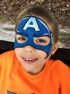 Face Paint | Orlando Face Painters | Colorful Day Events - The Avengers Face painting design