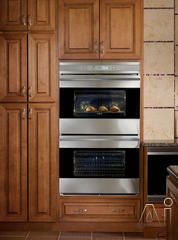 """Wolf DO302 30"""" Double Electric Wall Oven with 4.5 cu. ft. Dual Convection Ovens, Self-Clean, 10 Cooking Modes, Cobalt Blue Interior and Glass Touch LCD Control Panel"""