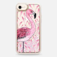 Casetify iPhone 8 Liquid Glitter Case - Flamingo Fancy by ChristineMay