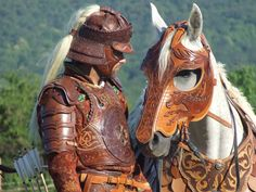 Reconstruction of Hunnish leather cavalry armor, 7-10 century CE