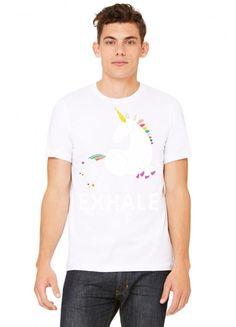 Exhale Unicorn Tshirt
