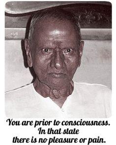 You are prior to consciousness. Sri #Nisargadatta Maharaj, #advaita