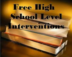 One Less Headache: Fabulous Freebies: High School Level Interventions High School Counseling, School Social Work, School Counselor, High School Students, High School Principal, High School Anime, High School Reading, Learning Support, School Levels