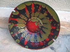 Hanova Enamel Bowl Ashtray Lava Brutalist Eames MID Century Pasadena Label | eBay