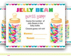 Jelly Bean Guessing Game   ... Jelly beans guess game, how many jelly beans game for Baby Shower