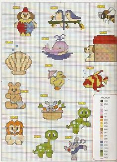 Schema punto croce Idee Infantili 77
