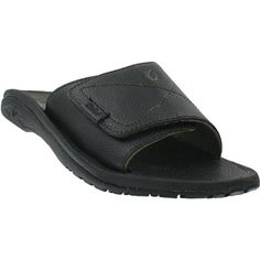Olukai Mens Shoes Ohana Leather Slide 12 M Black >>> This is an Amazon Affiliate link. Be sure to check out this awesome product.