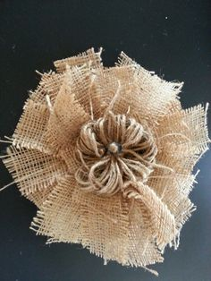 Burlap fall flower