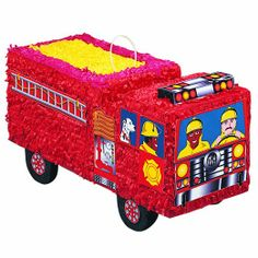 Fantastic pinata for a fire engine themed birthday party. Shop today for Fire Engine party supplies at Discount Party Supplies. Birthday Supplies, Birthday Party Themes, Boy Birthday, Birthday Ideas, Fourth Birthday, Happy Birthday, Fireman Party, Firefighter Birthday, Fireman Sam