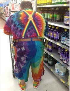 jim knew the tie die lessons he took back in the 70s would come in handy some day