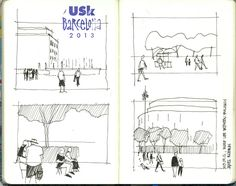 Life between buildings Urban Sketchers 4 SYMP. Wshop James Richards. by Bonecos de Bolso on Flickr