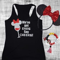 WE'VE GOT EARS SAY CHEERS anyone headed to Epcot for the Food and Wine Festival? I made this tee for my trip and I can't wait! It's now in the shop and available in #diydecals and ladies tanks. Perfect to wear while you eat and drink around the world or just when you're on your third episode of Mickey Mouse Club #wevegotearssaycheers