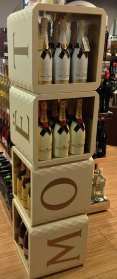 Moët imperial packaging shelves