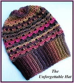 Crochet Supernova: The Unforgettable Hat ~FREE PATTERN~ These would make really nice Christmas presents with this gorgeous Redheart Unforgettable yarn.