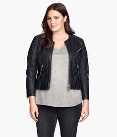 Plus Size Biker Jacket   H&M US