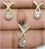 """Katriane""...only $1,200 or P52,800!! 0.84ctw DIAMOND 14k GOLD PENDANT SET! Imported, world-class quality, not pre-owned, not pawned, not stolen. We deliver worldwide <3"