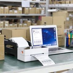 Phomemo Direct Thermal High Speed 4×6 Label Printer Shipping Label Printer, Thermal Labels, Mac Address, Mailing Labels, Thermal Printer, Printing Labels, First They Came, High Speed