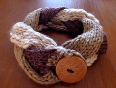 cuello de lana, tejido a mano neck wool, handwoven