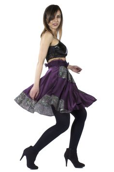 Flounced Purple Silk Circle Skirt  #skirt #circleskirt #purple #silk #Anastasia #AnastasiaChatzka #Fashion #Fashiondesigner #Boutique #Chicago #Madeinchicago #newpost #outfit #OOTD #trending #fashionable #inspiration #musthave