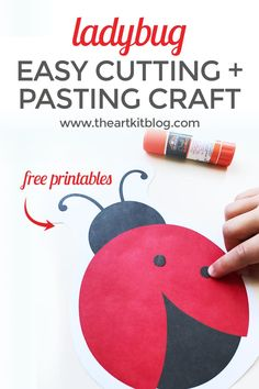 Ladybug Cutting and Pasting Activity for Kids {Free Printable Included} Looking for a ridiculously easy cut and paste craft for kids? Today we're sharing a simple cutting and pasting activity from our ladybug activity bundle. Cutting Activities For Kids, Bug Activities, Preschool Projects, Free Preschool, Preschool Activities, Family Activities, Ladybug Art, Ladybug Crafts, Grouchy Ladybug