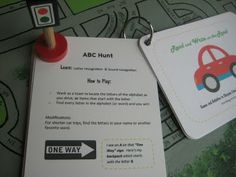 printable car games - print these free printable games on cardstock and laminate and keep in the glove box.  That way, whether you are on a long road trip or just running errands around town, you will have something on hand to keep the kids from getting bored in the car.