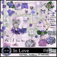 Happy Scrap Arts | Een mooie kit met veel hortensias, deze prachtige bloemen in paars, blauwe tinten hebben mij geinspireerd tot deze kit. Geschikt voor al jouw foto's <br />