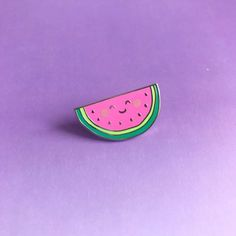 Wilma the Watermelon Lapel Pin Cute enamel pin hat badge Cute Watermelon, Pinata Party, Pin And Patches, Cute Pins, Pin Badges, Lapel Pins, Screen Printing, Enamel, Etsy