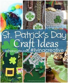 Cute St. Patricks Day Craft & #Party Ideas! #LivingCreative on LivingLocurto.com
