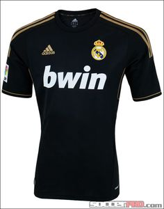 adidas Real Madrid Away Jersey 2011-2012...$59.99 Real Madrid Black Jersey, Real Madrid Shirt, Chelsea Fc, Sport T Shirt, Sports Jerseys, Shirts, Classic, Tops, Products