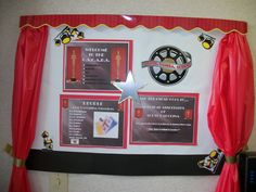 Hollywood theme bulletin board that I did at my job! Hollywood Bulletin Boards, Hollywood Theme, Movie Themes, Craft Projects, Diy Crafts, Frame, Fun, Kids, Board Ideas