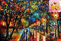 #painting #WHEN #DREAMS COME TRUE - GRANDE EDITION (36 x 48) is a Limited Edition, ARTIST-EMBELLISHED, HAND SIGNED AND NUMBERED Giclee on Canvas by Leonid Afremov...