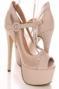 6 Inch Nude Heels - Red Heels Vip