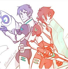 Keith and Lance fighting side by side. Some fans can think they are in some kind of relationships on this art but I think they are just cooperating