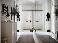 :) Entry Hallway, Entry Doors, Living Room Furniture, Living Room Decor, Interior Styling, Interior Design, Scandinavian Home, Sweet Home, Art Deco